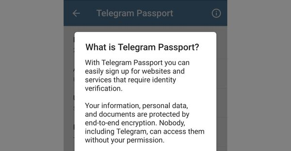 Что такое Telegram Passport